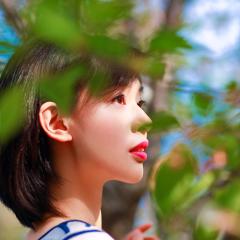 带翻译小姐姐拍樱花