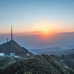 大明山日落